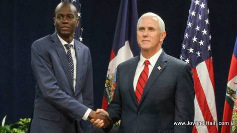 PHOTO: Haiti President Jovenel Moise & US Vice President Mike Pence