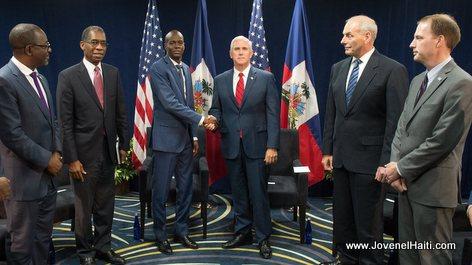 PHOTO: Haiti President Jovenel Moise & US Vice President Mike Pence