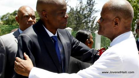 PHOTO: Haiti President Jovenel Moise and Court of Cassation Judge