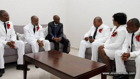 PHOTO: Haiti President Jovenel Moise and Court of Cassation Judges