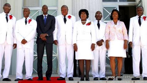 PHOTO: Haiti President Jovenel Moise and Court of Cassation Judges
