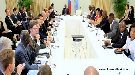 PHOTO: MINUJUSTH in Haiti - President Jovenel Moise meeting with UN Security Council delegation