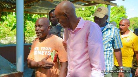 PHOTO: Haiti President Jovenel Moise, Vallee de l'Artibonite - Caravane Changement