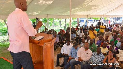 PHOTO: President Jovenel Moise Meets the mill owners of the Artibonite region