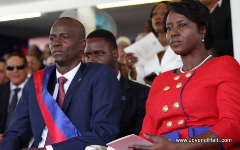 PHOTO: Haiti - President Jovenel Moise and First Lady Martine Moise