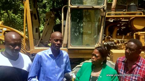 PHOTO: Haiti President Jovenel Moise ap Travay